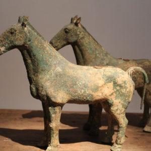 paar bronzen Khmer paarden