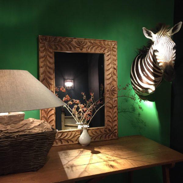 grote spiegel in naturel hout