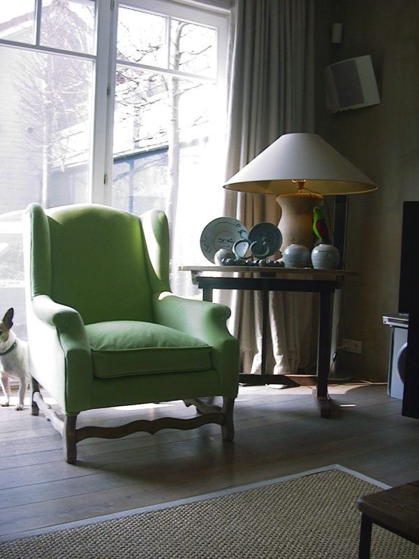 Os de Mouton with green velvet cover